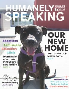 Humanely Speaking Cover - Spring 2018