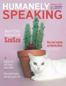 Humanely Speaking Cover - Winter 2017