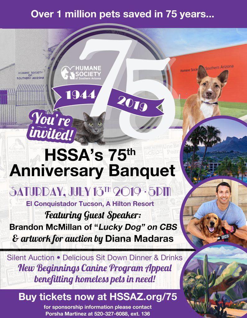 Banquet event flyer