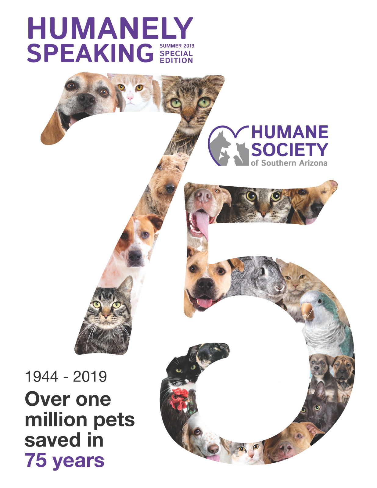 Humanely Speaking 75th Anniversary Issue Cover