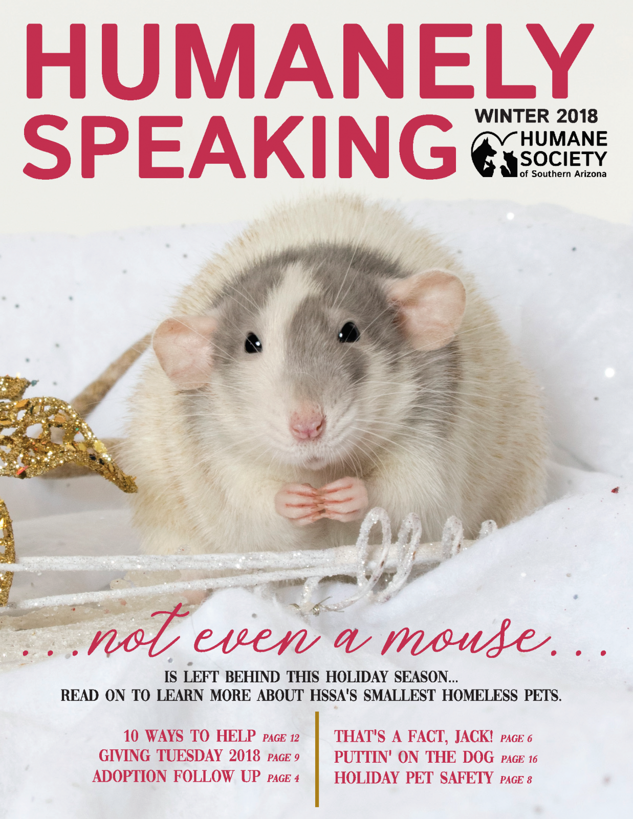 Pages from Humanely Speaking Winter 2018 Cover