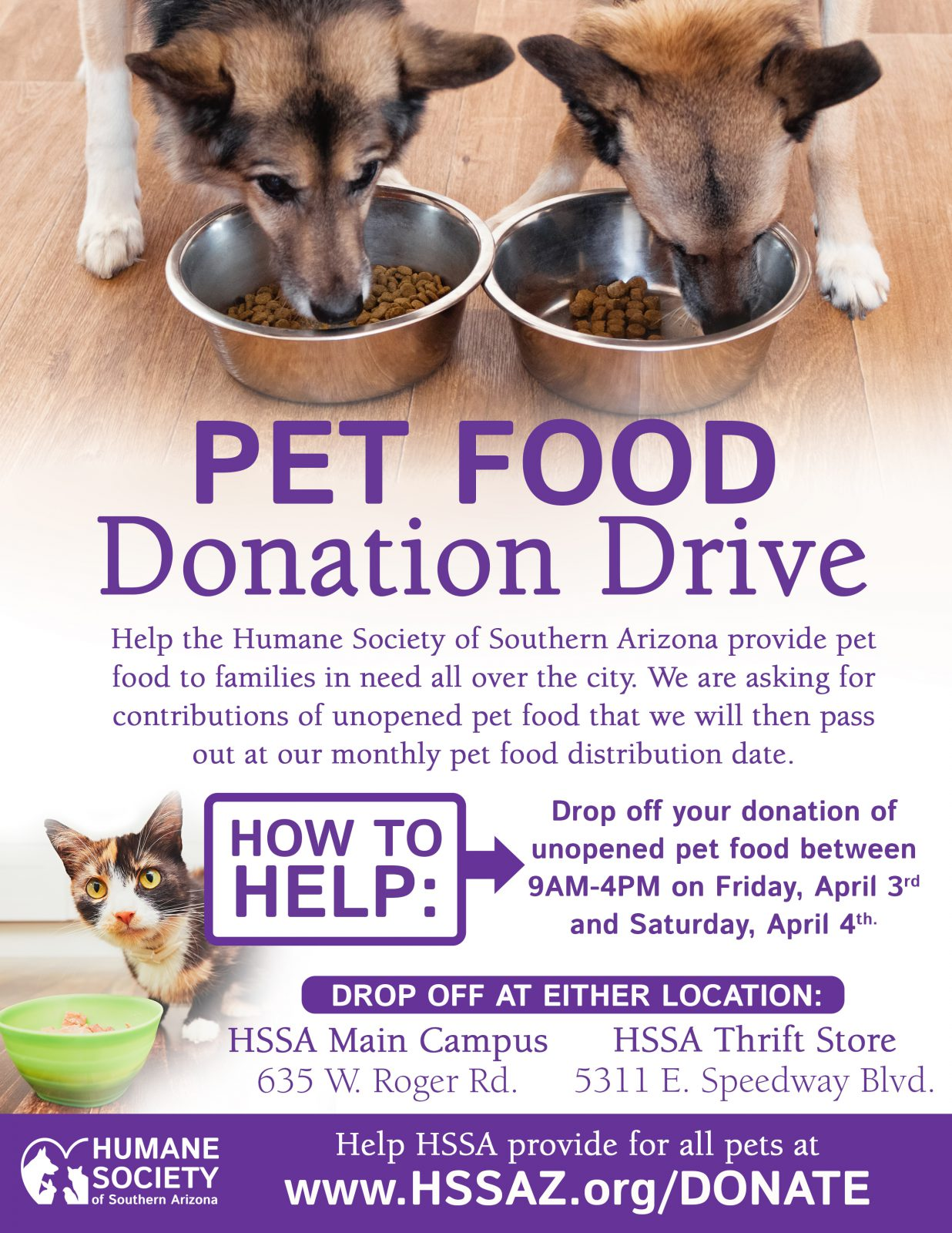Pet Food Donation Drive Flyer March 2020