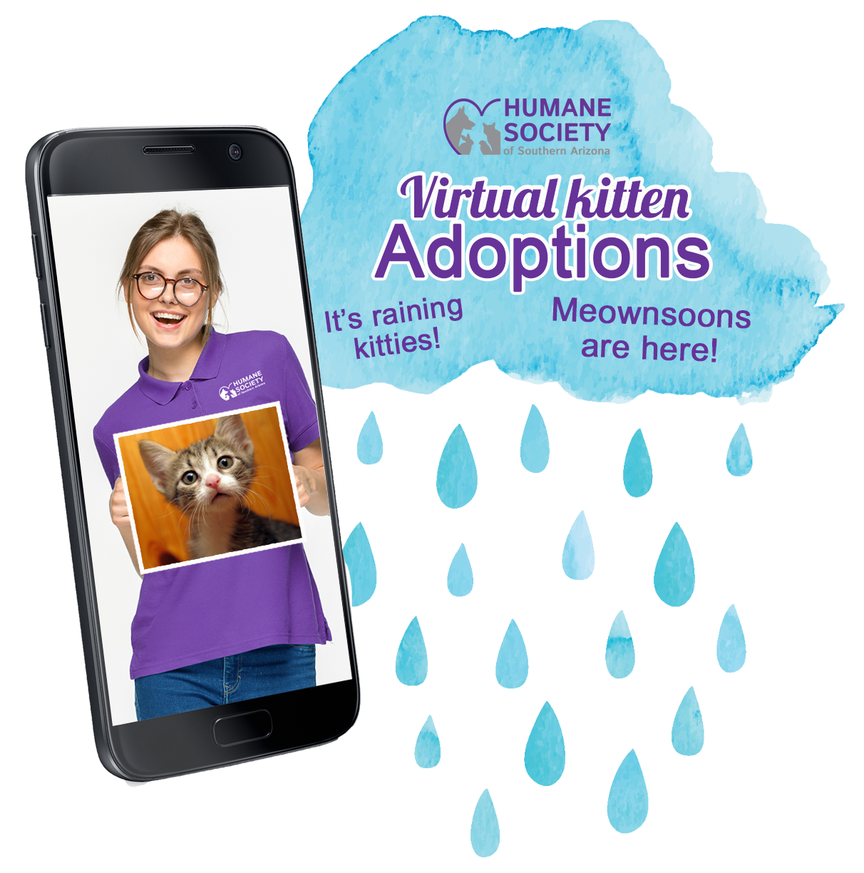 Raining Kittens Graphic