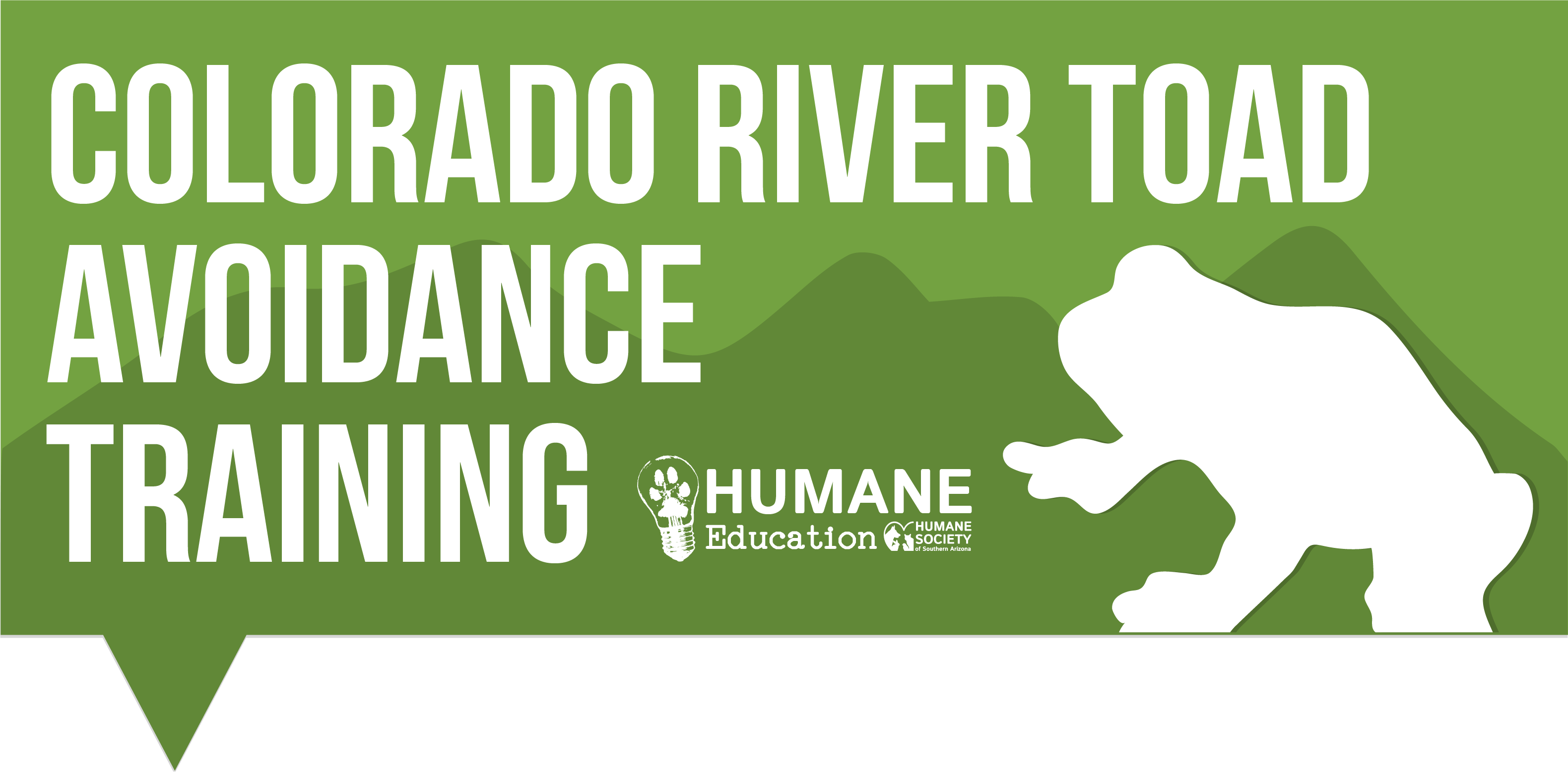 Colorado River Toad Avoidance Training Logo- horizontal