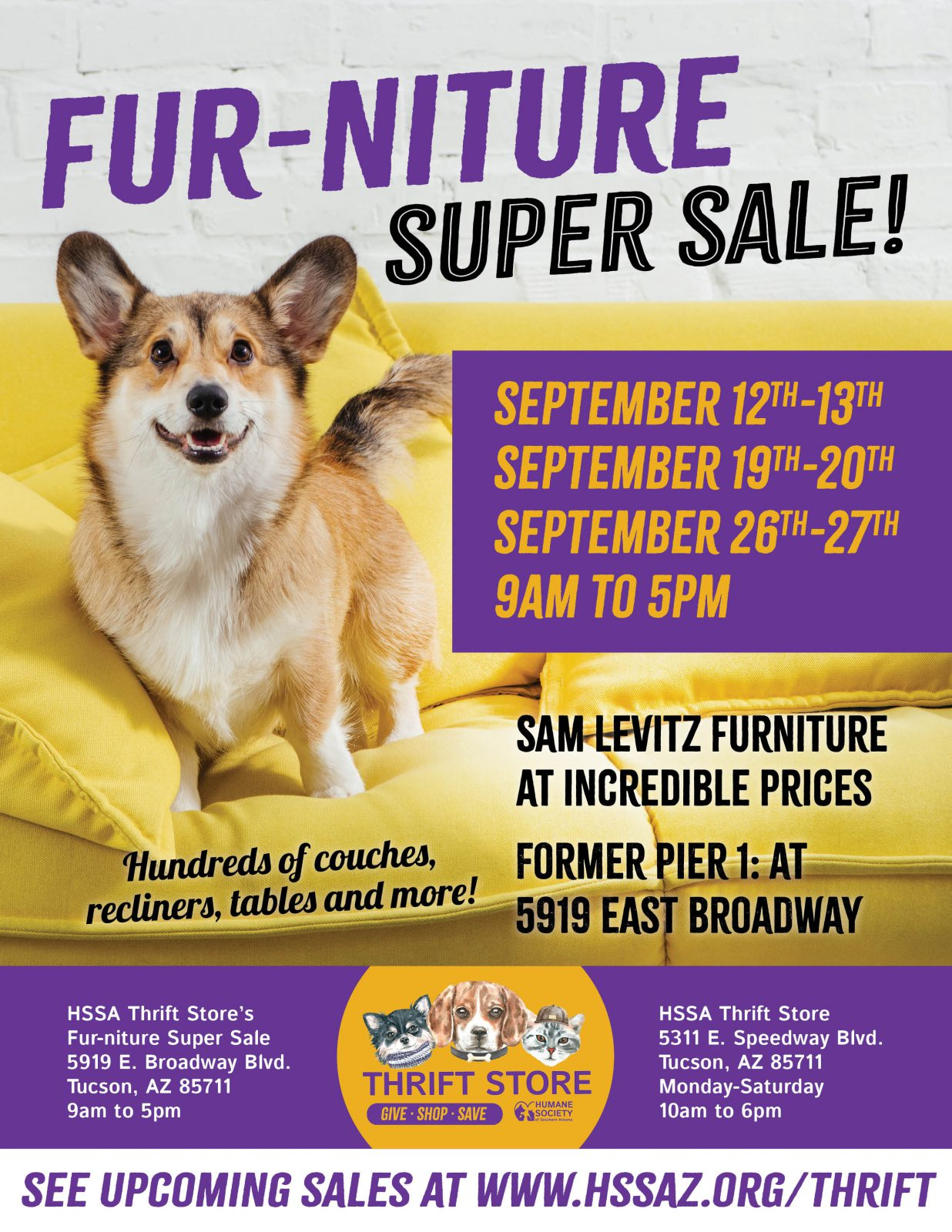 Fur-niture Super Sale Flyer (all weekends)