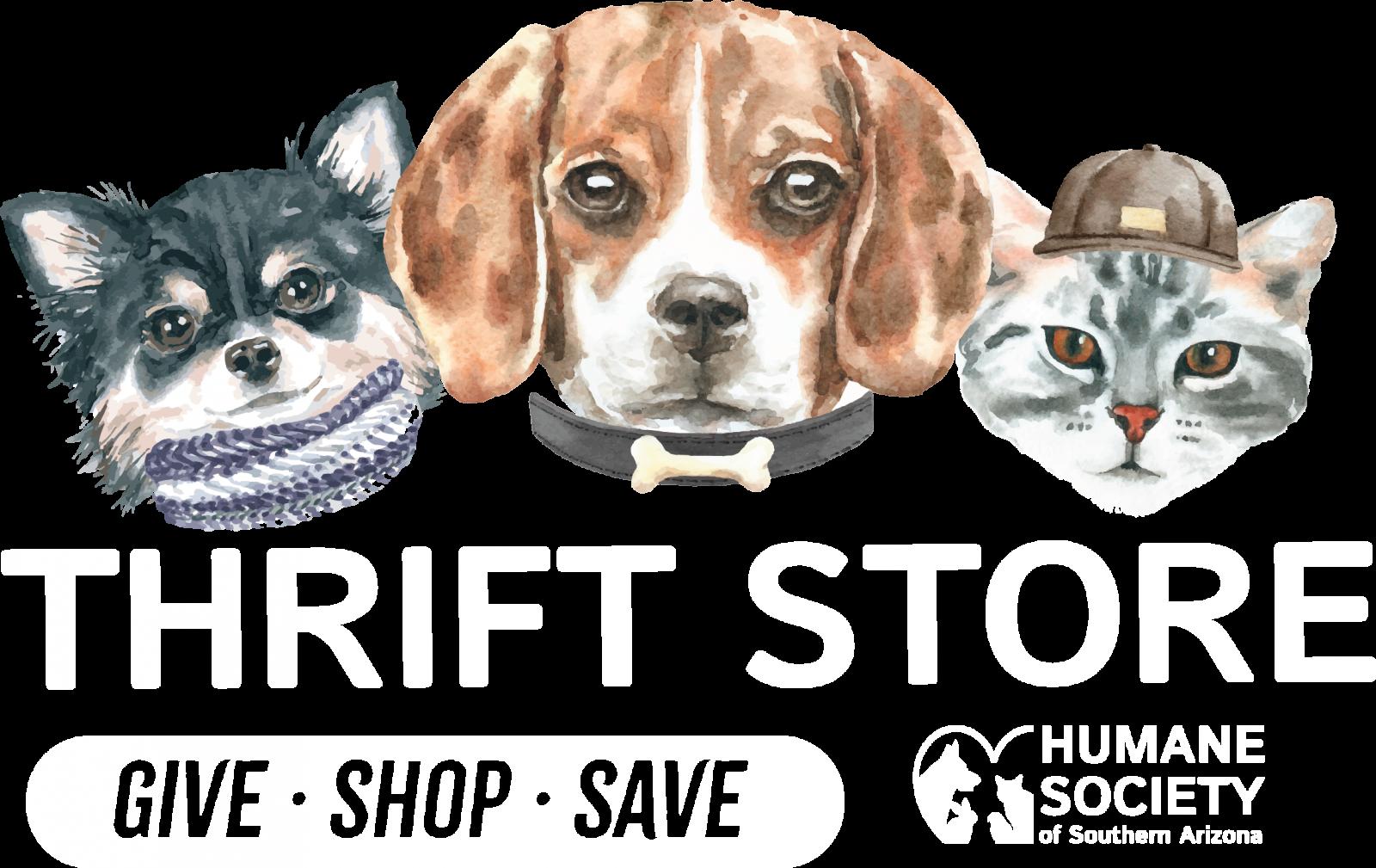 HSSA Thrift Store Logo- square white