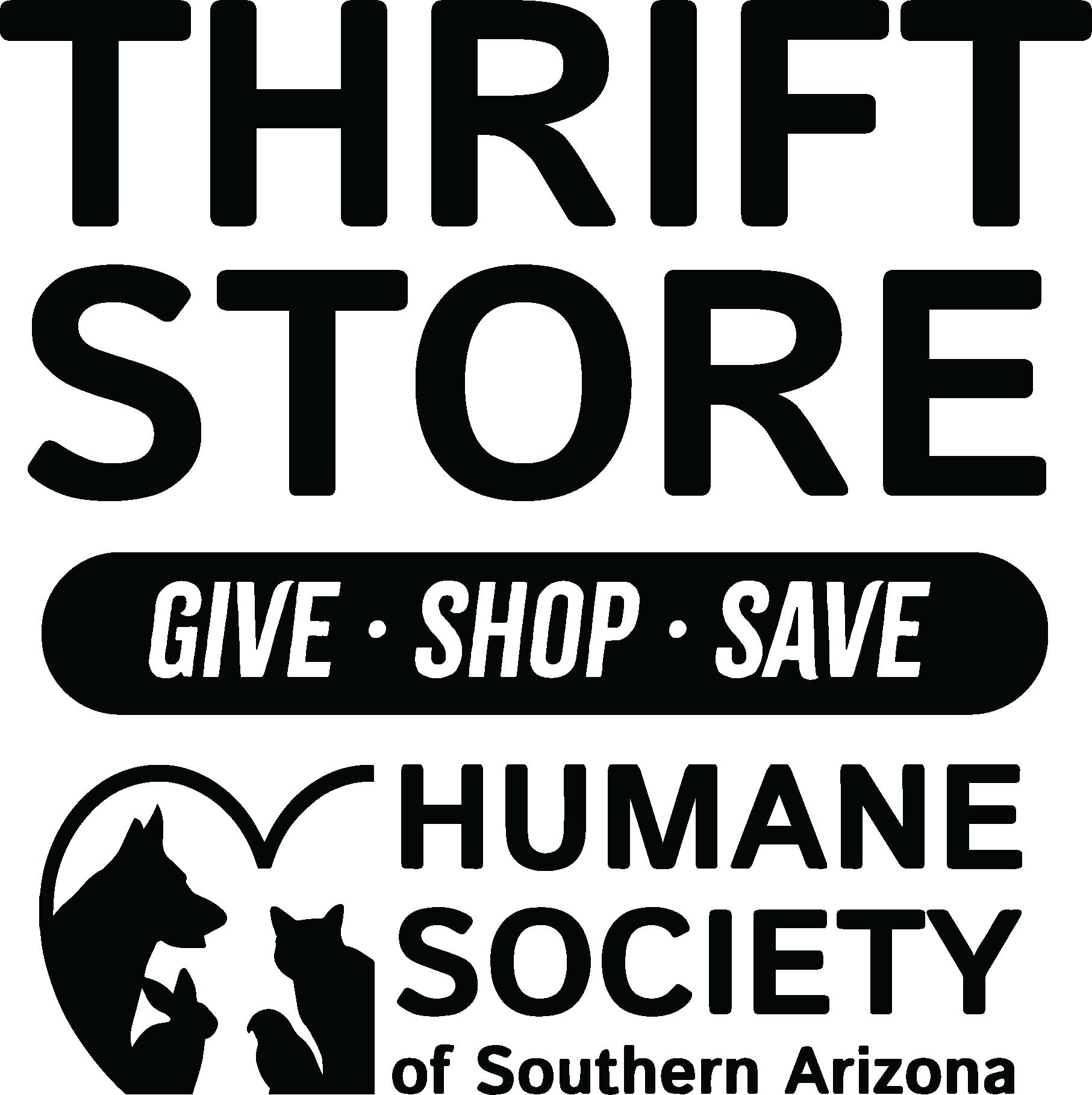 HSSA Thrift Store Logo- vertical black