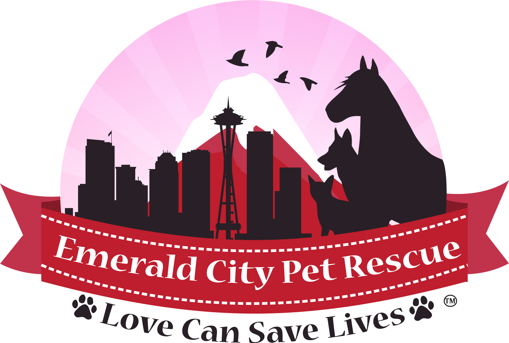 Emerald City Pet Rescue Logo
