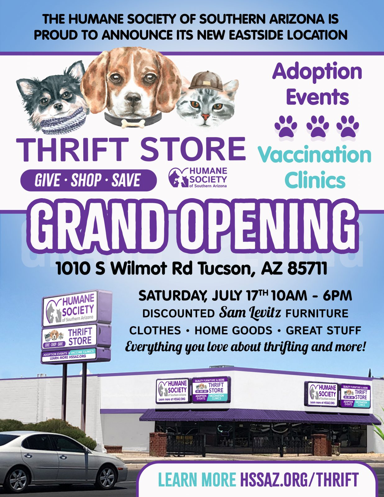 Thrift Store Grand Opening Flyer 2021