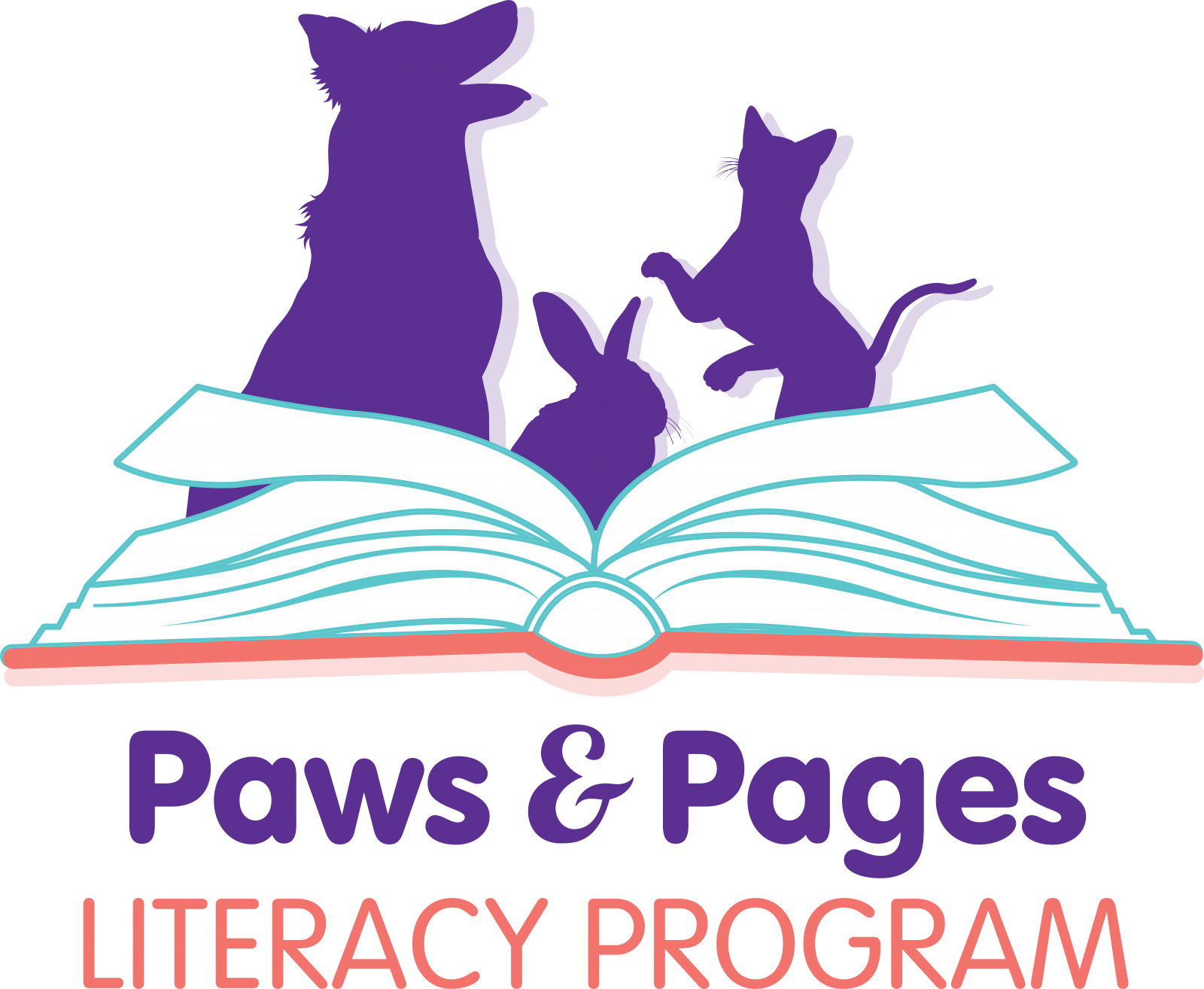 Paws and Pages Literacy Program New logo concept Final