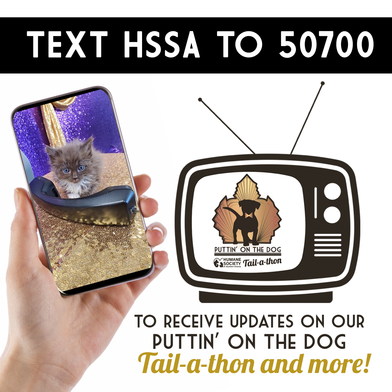 Text HSSA to 50700 to opt in graphic square