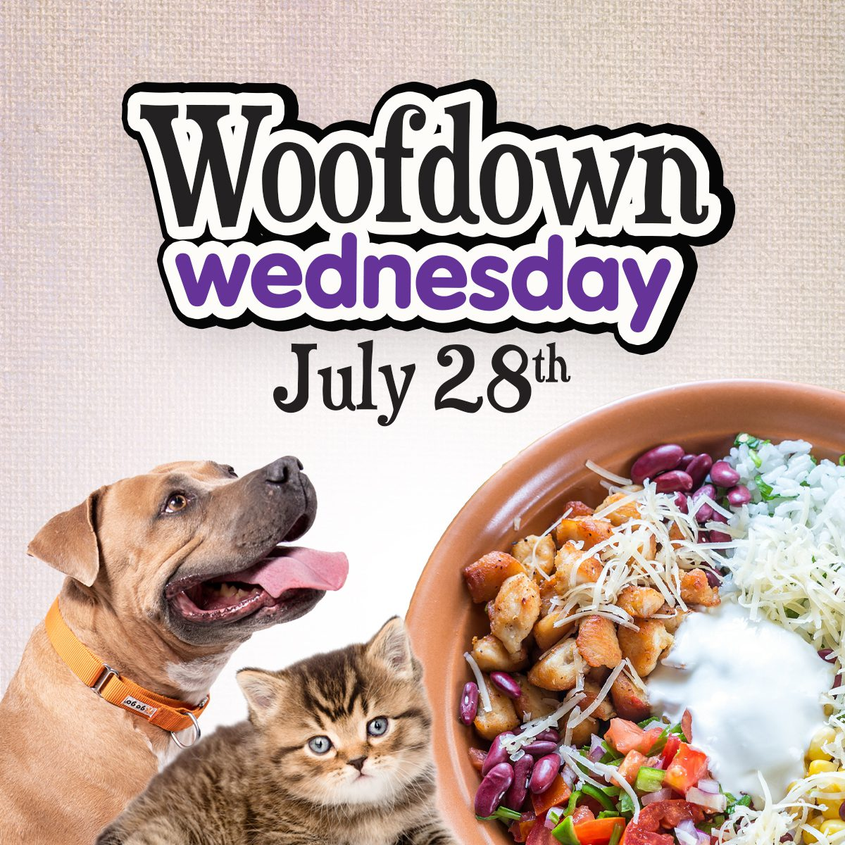 Woofdown Wednesday 2021 Square graphic